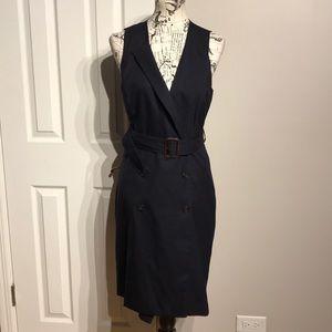 Oversized Blazer/Vest Wrap Peacoat Dress Wool Work